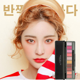Matte Eye Shadow Palette NZ - 10 Colors New Eyeshadow Palette Matte Tropical Vacation Shimmer Eye Shadow Palette With Brush Cosmetics Makeup Set