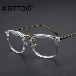 d7c479c46e KOTTDO 2018 New Vintage Retro Reading Glasses Frame Cheap Prescription  Black Metal Flat Mirror Female Myopia Square Eyeglasses