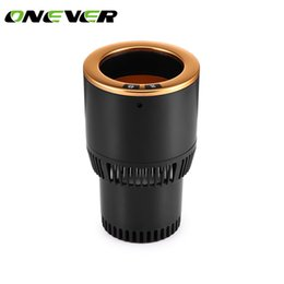 12v heaters for cars 2019 - Onever DC 12V 2 in 1 Car Cup Cooler Heater Cooling Heating Cup Holder Temperature for Drinks Coffee Beverage Cans discou