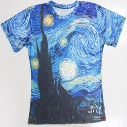solid color tees UK - Wholesale Free Shipping Summer Women Men T-shirt Couples Tee Unisex Galaxy   Art Painting   Coral 3d Print Short Sleeve Tops