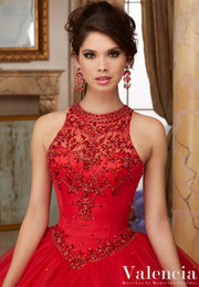 $enCountryForm.capitalKeyWord NZ - Sexy small round collar with vest, back strap, skirt, multi-layer net, trailing mattresses, sparkling, and manual mail Quinceanera Dresses