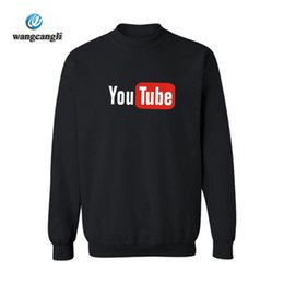 Design Men S Tracksuit Canada - 2018 Latest Youtube Design Fashion Hoodie Sweatshirt Men Women Cotton Youtube Hoodies Sudaderas Hombre Brand Clothing Tracksuit