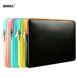 Macbook Leather NZ - For Apple Macbook Air 11.6 13.3 Pro 13 15.4 inch Case Anti Dust PU Leather Laptop Bags Cases For Macbook Air Pro 11 13 15