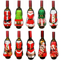 $enCountryForm.capitalKeyWord Australia - Red Wine Bottle Apron Cover Christmas Decoration Santa Claus Dog bag Home Party Supplies Xmas Decor 2019 Hot Sale
