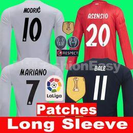TOP 2018 2019 Real madrid soccer jersey away 3rd 18 19 long sleeve football  shirt kit BALE BENZEMA sergio ramos KROOS ASENSIO ISCO camisa 2720808cf
