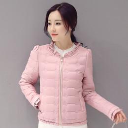 $enCountryForm.capitalKeyWord NZ - 2018 winter women basic jacket zipper female coat autumn spring ladies outerwear short girls cotton padded jaqueta feminina