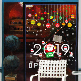 white christmas window stickers NZ - Colorful Christmas Ball Snowflakes White Polka Dot Wall Stickers Window Glass Cabinet Holiday Decoration Wall Decals Self-adhesive Wallpaper