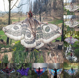 Butterfly prints faBric online shopping - Butterfly Beach Towel Soft Fabric Ladies Costume Accessories Beach Towel Special Design Colorful Printed Shawl x146cm