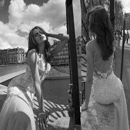 $enCountryForm.capitalKeyWord Australia - Beautiful Designer liz martinez Mermaid Wedding Dresses Summer Spaghetti Straps 3d Floral Flower Garden Cheap open Back bohemian Bridal Gown