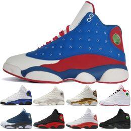 black cat boots 2019 - 13 13s Mens Basketball Shoes Phantom Chicago GS Hyper Royal Black Cat Flints Bred Brown Wheat Italy Blue men sports snea