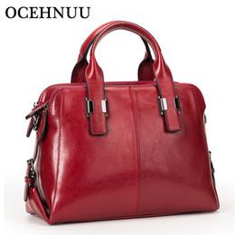 $enCountryForm.capitalKeyWord NZ - OCEHNUU Soft Genuine Cowhide Leather Women Tote Handbags With Zipper Famous Brands Ladies Shoulder Crossbody Bags High Quality