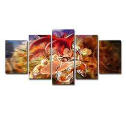 $enCountryForm.capitalKeyWord UK - 5P0241 Home Decor Print Canvas Painting Vintage Wall Art Canvas Painting 5 Panel Cartoon Dragon Ball Wall Picture For Living Room Decor
