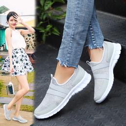 Female Sneaker Brands NZ - ZHENZU Women's Sport Shoes Female Brand Sneakers Woman Running Shoes Breathable Antislip Light Flats Plus Size 35-47