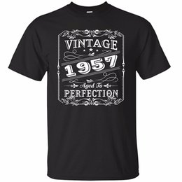 $enCountryForm.capitalKeyWord NZ - Print T Shirt Hot Crew Neck Vintage Aged To Perfection 1957 Shirt 1957 Awesome Birthday 1957 Shirt Short Design T Shirts For Men