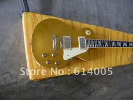 Venta al por mayor de Envío gratis Top calidad Nueva llegada LP Guitarra eléctrica estándar oro miradas Guitarra eléctrica con estuche