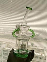 $enCountryForm.capitalKeyWord Australia - Green Pulse Glass Bongs Klein Recycler Oil Rigs Bong Wax Smoking Pipes Hookahs 2 Function Heady Bubbler Matrix Perc 14 mm Joint