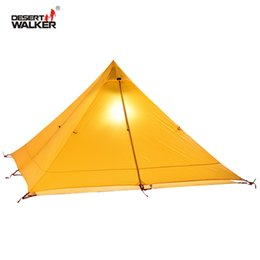 Nylon Coating Australia - 720G Lightweight Tent 1 Person 4 Seasons 15D Nylon Double-Side Silicone Coating Waterproof 3000MM Teepee Tipi Tents For Camping