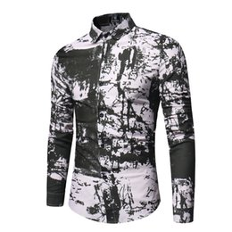 7845b6672 2018 New 3d Tie-dye Retro Floral Printed Man Casual Dress Shirt Brand  Clothing Fashion Linen Men's Slim Fit Long Sleeve Shirt
