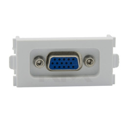 $enCountryForm.capitalKeyWord UK - 15 Pin Solderless VGA Computer Sockets VGA Wall Plates 86 Panel 3 + 4 White VGA Module