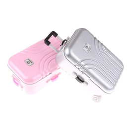 Toy Suitcases NZ - Baby Born Zapf Dolls Travel Suitcase Pink Silver Suitcase The Kids Best Gift For 18 inch American Girl Doll Accessories