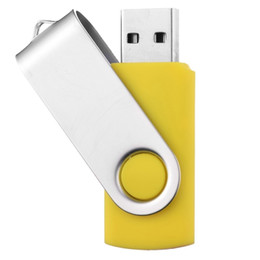 Thumb Flash Drive Australia - J_boxing 2PCS Yellow 32GB USB 2.0 Flash Drives Rotating Swivel Thumb Pen Drive 32gb Folding Memory Stick for Computer Laptop Macbook Tablet
