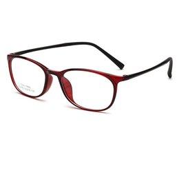 d8b2ffb7a2 2018 cuadrados Muy ligeros TR90 Marcos de anteojos Hombres Mujeres Estudiante  Óptico Liso Espejo lente Marco de gafas para miopía Gafas