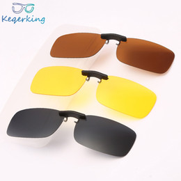 c34e26a671 Square Polarized Sunglasses Man Clip On Myopia Eyeglasses Men Frameless  Night Vision Goggles Sun Glasses Flip Up Sunglass ZB-70