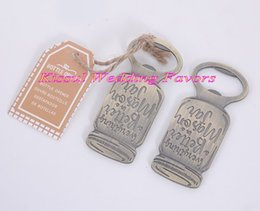 angels bottle opener UK - (20 Pieces lot) Farmhouse-inspired wedding and Bridal showers favors of Mason Jar Bottle Opener For Party Favors