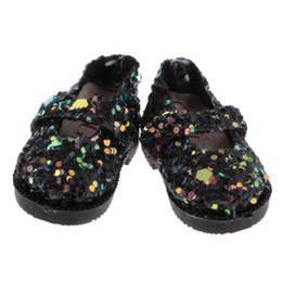 China Colorful 1 Pair PU Leather 1 6 Doll Sequins Shoes for 12'' Blythe Dolls BJD SD Girl Dolls Clothing Party New Dolls Accessory Toy suppliers