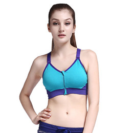 93c6c777d4540 Vertvie Women Running Yoga Sports Bras Women Fitness Stretch Bra Adjustable  Strap Wire Free Bras Padded Front Zip Push Up
