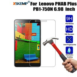 Discount lenovo pb1 - XSKEMP 9H Hardness Arc 2.5D Explosion Proof Tempered Glass Film For Lenovo PHAB PB1-750N 6.98inch Tablet PC Screen Prote