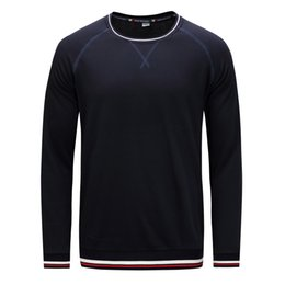 Mens long bottoM t shirt online shopping - Mens Simple Design Solid Color Long Sleeve T shirt Male Casual Bottoming Shirts Thin Pullover Crew Neck Tops