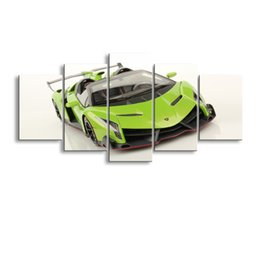Art Canvas Prints Australia - 5 pieces high-definition print car canvas oil painting poster and wall art living room picture C5-11