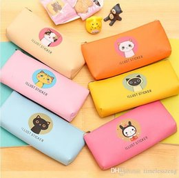 Cat pen Case online shopping - High quality cute pen bag popular student nice pencil case office stationery creative cat pencil bag delicate gift