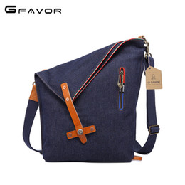 $enCountryForm.capitalKeyWord Canada - Fashion Cowboy Cloth Single Shoulder Bag Dark Blue Light Blue Inclined Shoulder Bag Trend Travel Handbag