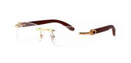 2019 самых продаваемых деревянных солнцезащитных очков для мужчин, женщин, модельера, буйвола рога очки без оправы коричневые черные прозрачные линзы солнцезащитные очки с коробкой на Распродаже