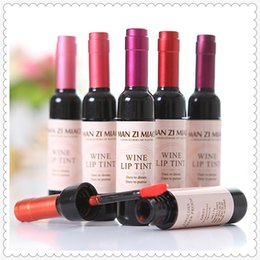 $enCountryForm.capitalKeyWord NZ - Fashion Korean Waterproof Wine Red Shape Lip Tint Baby Pink Lip For Women Makeup Liquid Lipstick Lipgloss Cosmetic