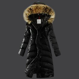 Wholesale duck down jacket womens for sale - Group buy FRANCE BRAND WOMEN LONG WINTER DOWN JACKET X LONG COAT OUTWEAR WOMENS Slim Female Coats Thicken fur Parka Down Coat Clothing Hooded Parkas