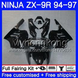$enCountryForm.capitalKeyWord Australia - Body For KAWASAKI NINJA ZX900 ZX 9R 1994 1995 1996 1997 221HM.50 ZX 9 R 900 900CC ZX-9R 94 97 Glossy black hot ZX9R 94 95 96 97 Fairing kit