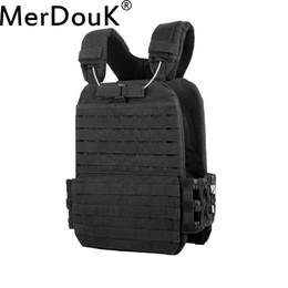 army combat vest 2018 - USMC Soldier Combat Vest Army  Tactical Molle Vest Protection Plates colete Camouflage Carrier cheap army combat vest