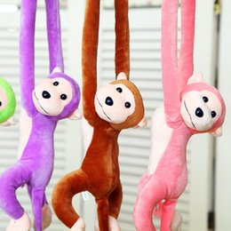 monkey tails wholesale NZ - 1PCS Cute 68cm Long Arm Monkey From Arm To Tail Plush Toys Colorful Hang Monkey Curtains Stuffed Animals Dolls for Kids Childern