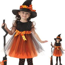 Wholesale Children Wizard Hats Australia - New Cute Kid Halloween Performance Costume Cap Wizard Witch Hat Halloween Party Cosplay Props Hats Children Clacks Clothes