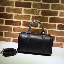 Animal Travel Pillows Australia - Top Quality design Letter embossing Pillow bag Fashion Shoulder BagBlack Genuine Leather 269876 Travel bag