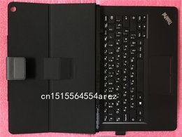 lenovo folio 2019 - Original New Laptop Lenovo ThinkPad Helix Gen 2 Folio Touch Keyboard Leather Case English US Russian 03x91 03x9131 03x91