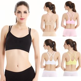 d9d42542afef6 For Running Gym Padded Wire free Shake proof Underwear Women Sexy Yoga  Shirt Padded Sport Bra Push Up Seamless Fitness Top Bras