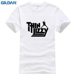 Music Man T Shirt Australia - Heavy Metal Rock Band Thin Lizzy T Shirt Men Music Pop Mens T-shirt Short Sleeve Cotton O-neck Tee Tops Summer Fashion Costumes
