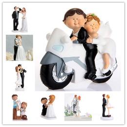 Caliente elegante resina sintética BrideGroom Cake Topper decoración de la boda Figurita Casamento Mariage alta calidad del regalo del partido freeshipping 10 unids