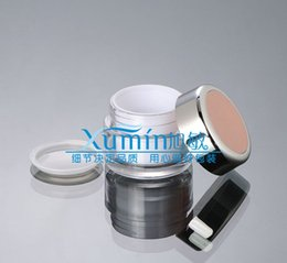 Acrylic cosmetic jAr white online shopping - 50PCS g acrylic white cream jar with light pink lid grams cosmetic jar plastic g packing for sample