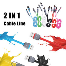 $enCountryForm.capitalKeyWord NZ - USB Cable 2 In 1 3ft 1M For iPhone X 8 Plus 7 6S Samsung Models Andriod Micro USB Data Cable Lightning Charging Mobile Phones 6 Pack In Set