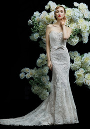 $enCountryForm.capitalKeyWord Australia - 2018 High-end customization handmade Strapless Neckline Mermaid Wedding Dress in Lace